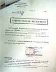 Attestation de recasement