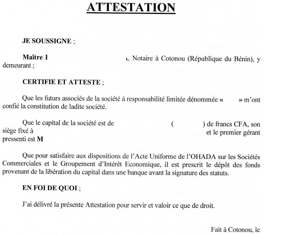 exemple d attestation de conge